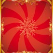 Red christmas poster — Stock Vector #7544105