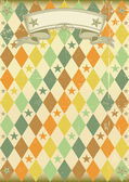 Vintage rhombus pattern poster — Stock Vector