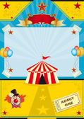 Circus on the beach — Stock Vector