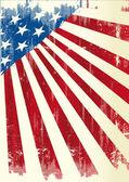 Póster americano — Vector de stock