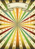 Affiche grunge sunbeans multicolor — Vecteur