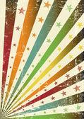 Retro multicolor grunge flag — Stock Vector