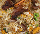 Rice with meat — 图库照片