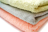 Three towels — Stock Photo