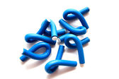 Blue curlers — Stock Photo