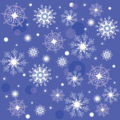 Texture of the Snowflakes — Stock Vector
