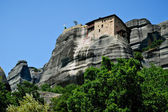 Meteora panorama with The Holy Monastery of St. Nicholas Anapaus — Stock Photo
