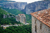 Meteora. Monastery at rocks — Stock Photo