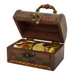 Wooden treasure chest — Stock Photo #7852626