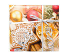 Colorful New Year gifts box — Stock Photo