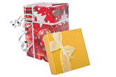 Two gift box with bows — Stock Photo