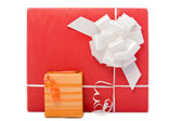Big and small gift boxes — Stock Photo
