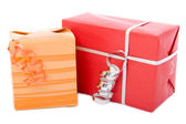 Two different gift boxes — Stock Photo
