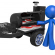 3d Mand Mobile BBQ — Stock Photo #7536508