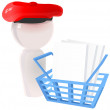Artist Icon with Checkout Basket — Stock Photo