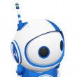 Stock Photo: 3d Cute Blue Robot Looking Right and Being