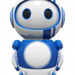 Stock Photo: 3d Cute Blue Robot standing tall ready to fly