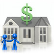 Happy Couple with New Home, Considering Purchase — Foto de stock #7536715