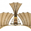3d Da Vinci Ornithopter Flying Machine - Stock Photo