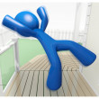 3d Blue Man Falling Down Injury Illustration - Stock Photo