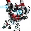 Stock Photo: Rear View of Robot with Ignited Jets