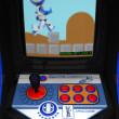 Retro Arcade Game Blue Robot - Foto Stock
