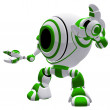 Royalty-Free Stock Photo: Small Robot Defense Pose