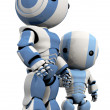 Stock Photo: 3d Robot Father and Son