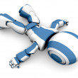Stock Photo: 3d Robot Lying Down
