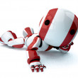 Glossy Red Robot Recined — Stock Photo