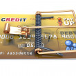 Stock Photo: Credit Card Trap, Predatory Lending