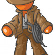 Design Mascot Adventurer — Stock Photo