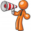 Design Mascot Megaphone. - Stock Photo