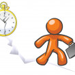 ontwerp mascotte out of time — Stockfoto