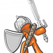 Design Mascot Warrior - Stock Photo