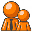 Royalty-Free Stock Photo: Orange Man and Child