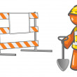 Under Construction Orange MRoadblock — Stock Photo #7537625