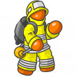Orange Fire Man — Stock Photo
