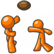 Orange Man Football — Zdjęcie stockowe