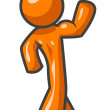 Orange Man Flexing Muscle — Foto Stock