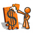 Orange MFinancial Puzzles — Stock Photo #7537886