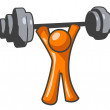 Stock Photo: Orange MLifting Weights