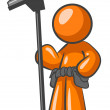 Stock Photo: Orange MWindow Cleaner