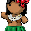 Hawaiian Hula Dancer - Stock Photo