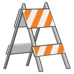 Under Construction Roadblock — Stock Photo