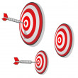 Stock Photo: Multiple Targets Precision Aim Darts