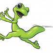 Stock Photo: Gecko Running Scared