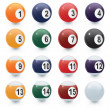 Glossy Pool Balls — Stock Photo #7539046