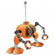 Orange Miniature Robot — Stock Photo
