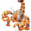 Orange Scorpion Robot — Stock Photo